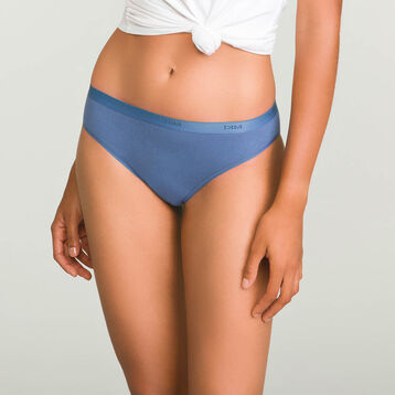3 Pack  Ecodim Cotton briefs in Black, Porcelain Blue and Nude Pink, , DIM
