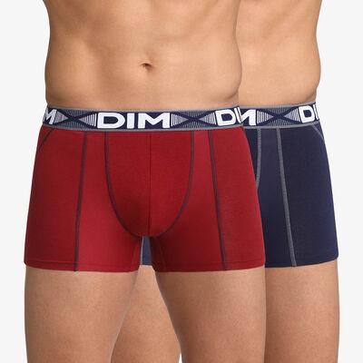 Набор 2шт.: Мужские боксеры красного и синего цвета 3D Flex Air, , DIM
