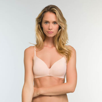 Skin pink microfiber push up triangle bra InvisiFree, , DIM