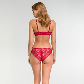 Demi-cup bra in imperial red - Sublim Dentelle, , DIM