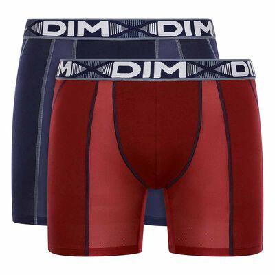 Набор 2шт.: Мужские длинные боксеры красного и синего цвета 3D Flex Air, , DIM