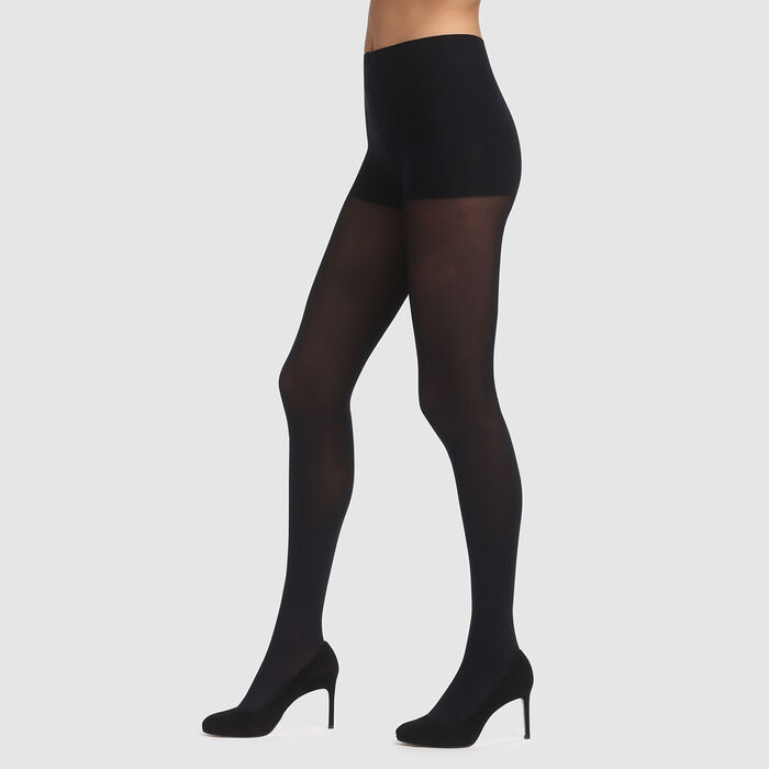 Black Edendim Opaque 40 no waistband tights, , DIM