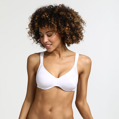 White Generous Minimizer bra, , DIM