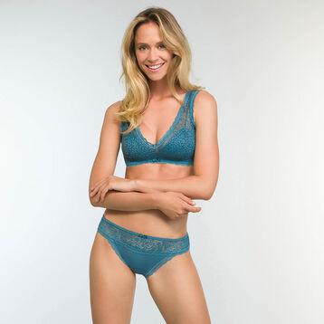Brassière Verte Bleutée Ampliforme en dentelle Daily Glam Trendy Sexy, , DIM