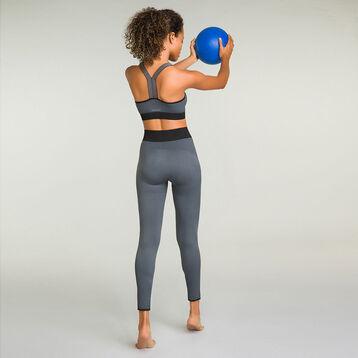 Sports bra with removable padding for women Grey Dim Sport, , DIM