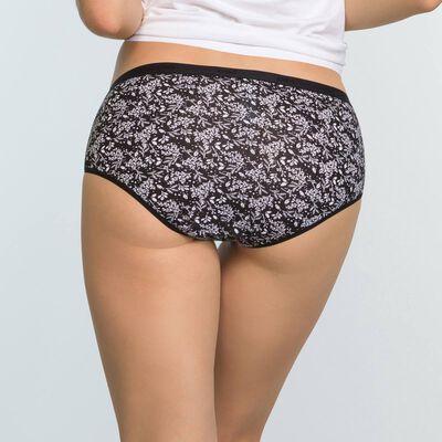 Lot de 3 shortys Imprimé Hiver Noir Les Pockets Coton Stretch, , DIM