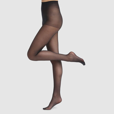 Green by Dim semi-opaque black tights 100% recycled thread 25D, , DIM
