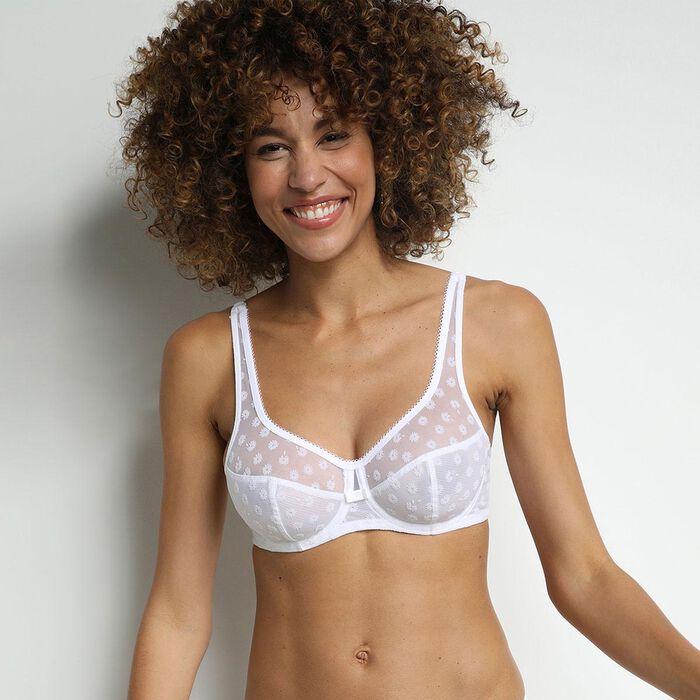 Generous Limited Edition White daisy underwired bra, , DIM