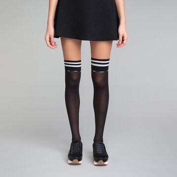 Black and white Sporty high socks - Dim Style, , DIM