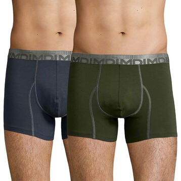 2 Pack trunks Granite Grey and Khaki Green 3D Flex Morphotec, , DIM
