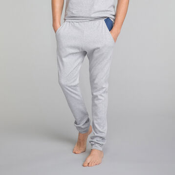 Mottled grey pyjama trousers with blue pockets - DIM Essential, , DIM