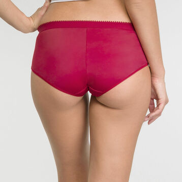 2 pack red and burgundy shorties - Les Pockets Microfibre, , DIM