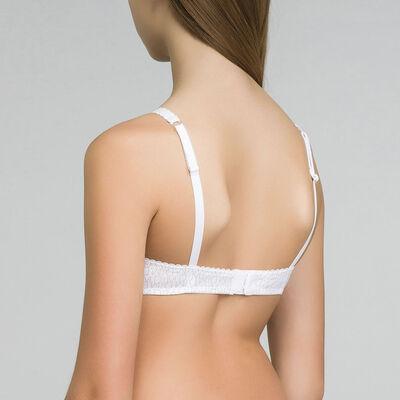 Треугольный бюстгальтер с принтом в виде логотипа белого цвета - Dim Touch Girl, , DIM
