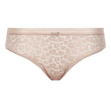 Culotte en dentelle Skin Rose pour femme Leopard Line, , DIM