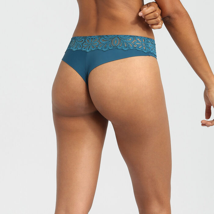 Organic blue lace thongs Daily Glam by Dim, , DIM