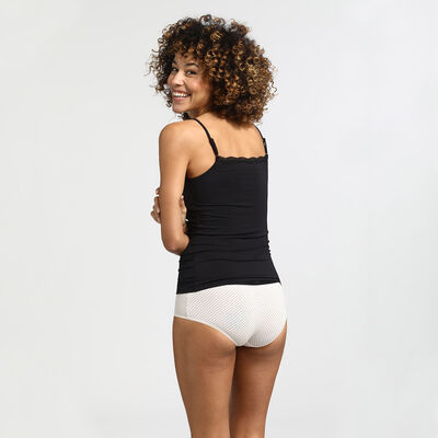 Pockets black lace cami, , DIM