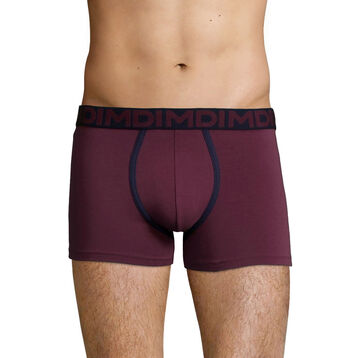 Men's stretch cotton trunks in Purple Grape Mix & Fancy, , DIM