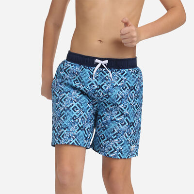 Miami blue exotic print long swim shorts Dim Boy, , DIM