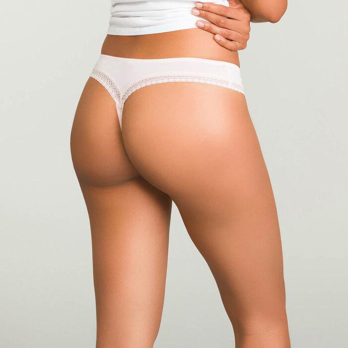 Tanga Skin Rose pour femme en microfibre Micro Lace Bar à Culottes, , DIM