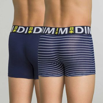 2 pack navy blue and striped trunks - Box Japon, , DIM