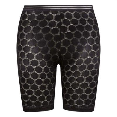 Черные удлиненные шорты с принтом горох Shaping Dots, , DIM