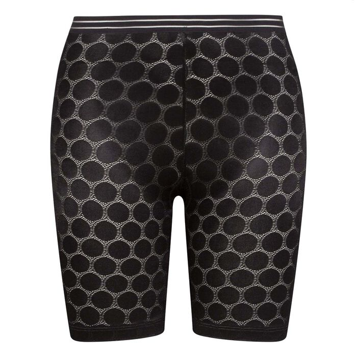 Shaping Dots black polka dot shaping Bermuda shorts, , DIM