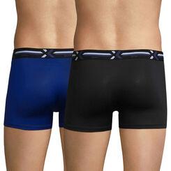 2-pack black and blue trunks - Xtemp Activ, , DIM