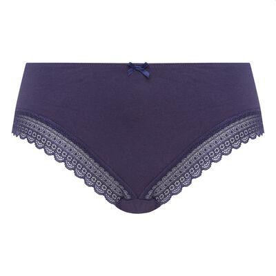 Dim Green Panty Box infinite blue cotton and lace shorties, , DIM