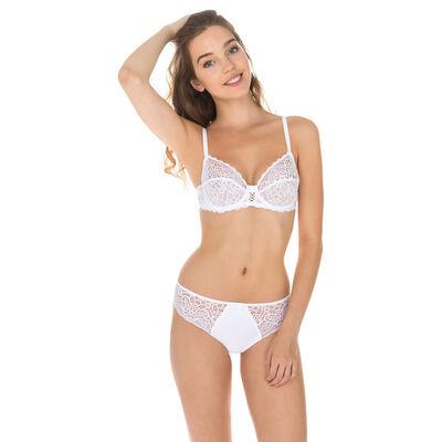 Sublim Dentelle lace bikini knickers in white, , DIM