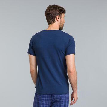 Tee-shirt de pyjama à manches courtes bleu éclat-DIM