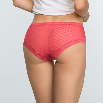 Casual Red shorty with polka dots Dotty Mesh, , DIM