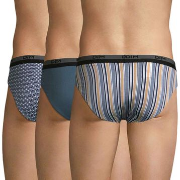 3 pack eclipse pattern men's briefs - Coton stretch , , DIM