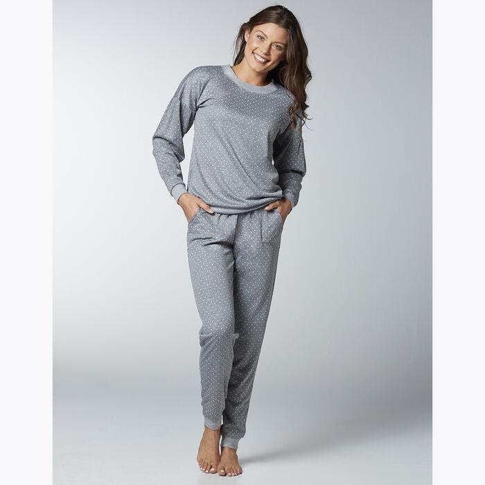 Women's pyjama set Grey with polka dots, , DIM