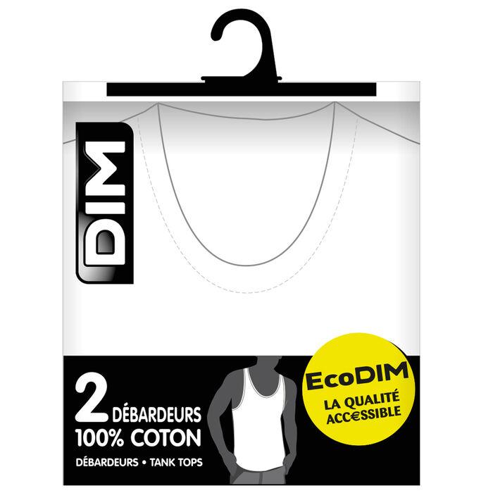 Lot de 2 débardeurs blancs 100% coton EcoDIM-DIM