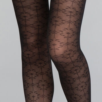 Precious Foliage Black 20 Tights - DIM Style, , DIM