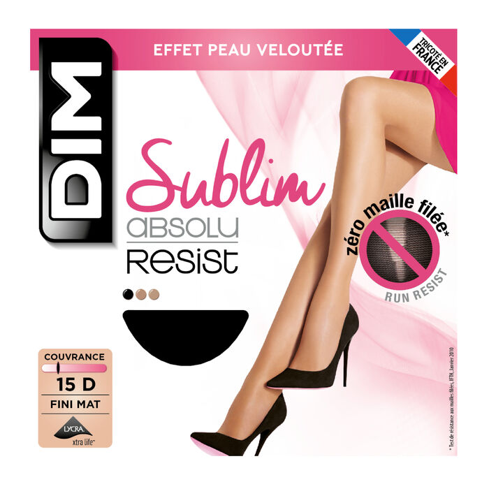 Collant noir Sublim Absolu® Resist 15D, , DIM