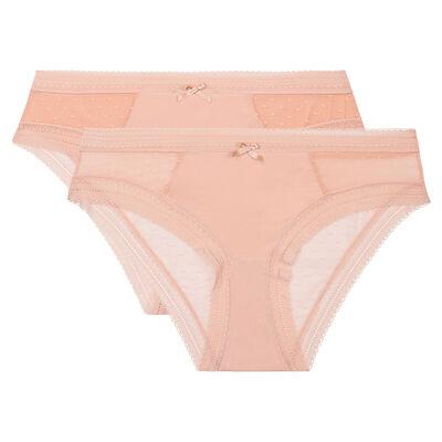 Dim Sexy Transparency 2 pack briefs nude pink , , DIM