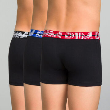 3 pack colorful waistband trunks for Boy - Coton Stretch, , DIM