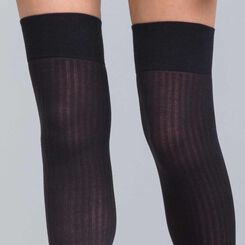 Chaussettes hautes en cotte de mailles noires DIM & BASH-DIM