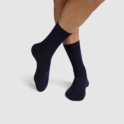 Pack of  2 pairs of men's socks lyocell Navy Green by Dim, , DIM