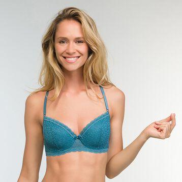 Push up Balconette Bra in Bluish Green Daily Glam Trendy Sexy , , DIM