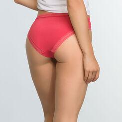 Casual Red microfiber brief Micro Lace Panty Box, , DIM