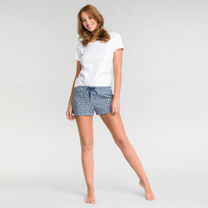 "T-Shirt pyjama blanc ""Je (suis) t'aMUSE""  - Soft essential, , DIM"