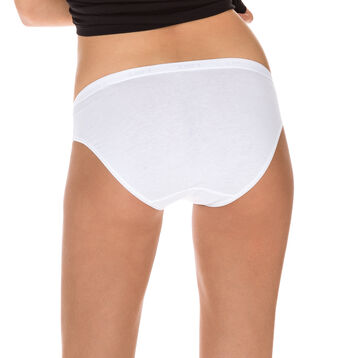 Lot de 2 slips midi blancs Femme Coton Plus Bio-DIM