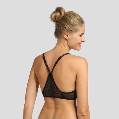 Black lace underwired triangle bra Dim Daily Glam, , DIM