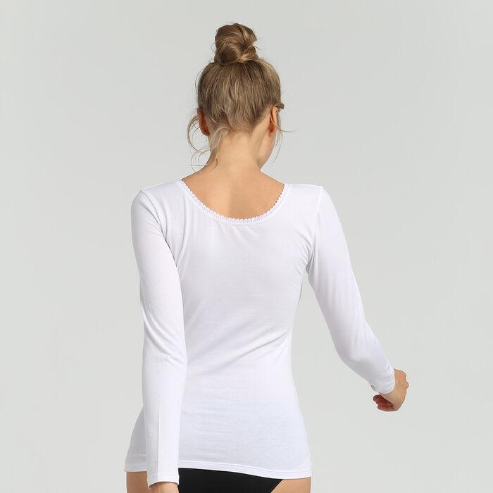 Dim Thermal women's super comfy white long-sleeved t-shirt, , DIM