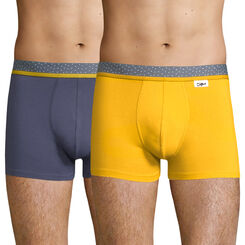 2 pack blue and mustard trunks - Dim Mix and Dots, , DIM