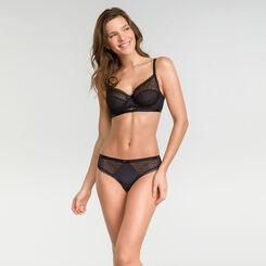 Balconnette bra in black lace - Dim Daily Glam Trendy Sexy, , DIM