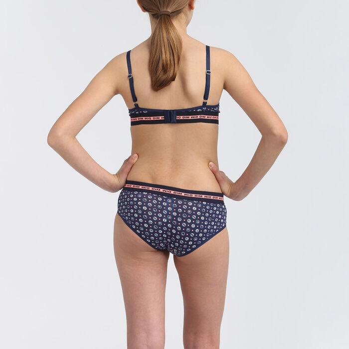 Shorty fille en coton stretch motifs ballons Matelot Dim Sport, , DIM