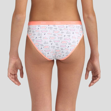 3 pack Cuba coral stretch cotton briefs Dim Girl, , DIM
